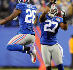 Safeties Antrel Rolle and Stevie Brown back together again